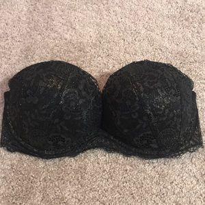 Very Sexy strapless bra with black/gold lace